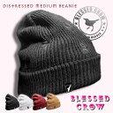 BlessedCrow ダメージ加工 Distressed Medium ビーニー ニット帽 メンズ レディース ニットキャップ