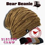 BlessedCrowBearビーニーファッショナブルな防寒タウン&アウトドアデザインニット帽