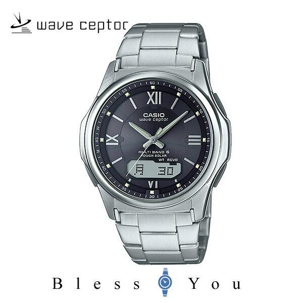 ソーラー電波時計 カシオ 腕時計 CASIO ウェーブセプター wva-m630d-1a4jf メンズウォッチ ブラック(ローマ数字) [父の日 ギフト プレゼントに]