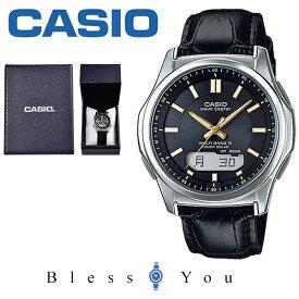 【国内正規品】 ソーラー電波時計 カシオ 腕時計 CASIO ウェーブセプター 電波ソーラー レザーバンド(bk) CASIO WVA-M630L-1A2JF 20,0 腕時計 国内モデル メーカー保証1年 [父へのプレゼントに]