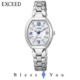 シチズン ソーラー電波 腕時計 エクシード ソーラー 電波時計 チタニウムコレクション ES8060-65W レディース