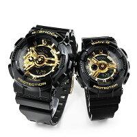 二人の絆ペアウォッチGショックG−SHOCKペアGA-110GB-1AJF-BA-110-1AJF32,0腕時計ペアカップルブランドウォッチジーショックBlack×Goldオールブラックゴールド