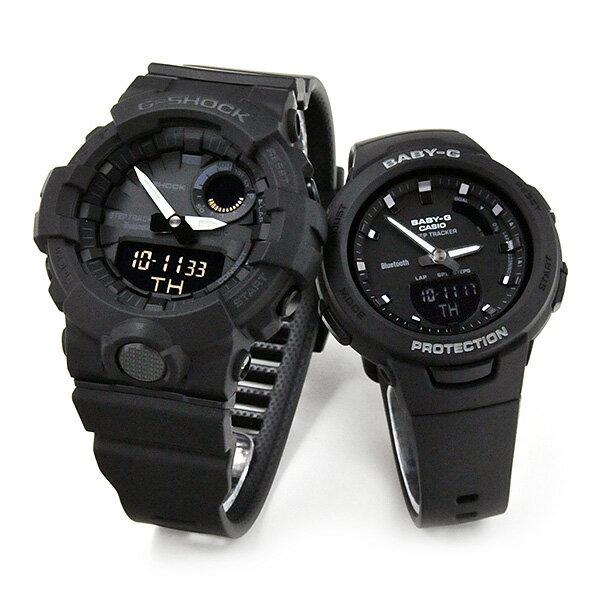 ポイント最大42倍! ペアウォッチ G−SHOCK/BABY-G G-SQUAD ジースクワッド ペア 腕時計 [black] GBA-800-1AJF-BSA-B100-1AJF 32,0 ジーショック 歩数計測機能付 スマートフォンリンク  [名入れ不可です]