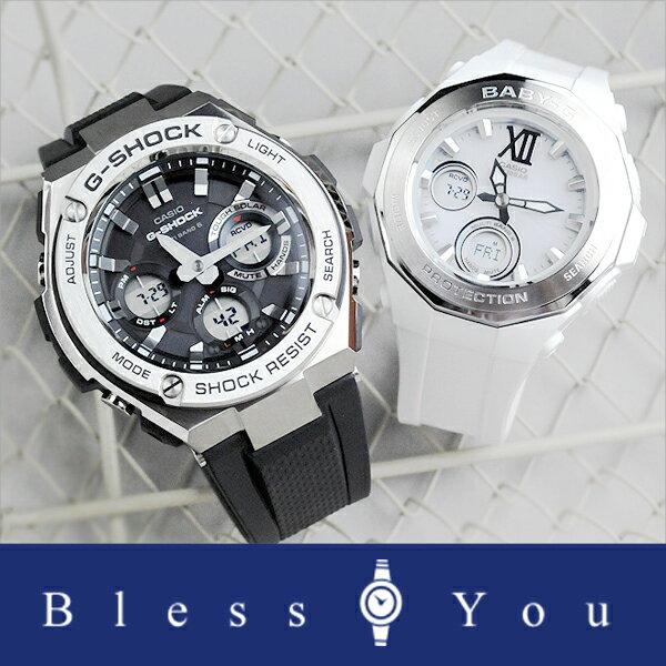 ペアウォッチ gショック ソーラー電波時計 GショックandベビーG メンズ レディース [あす楽] G-shock and Baby-G GST-W110-1AJF-BGA-2200-7BJF 65,5 [AAA]