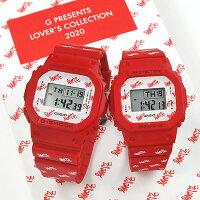 ラバーズコレクション2020CASIOG-SHOCKカシオ腕時計ペアウォッチGショック2020年11月新作ラバーズコレクションLOV-20B-4JR22,5赤