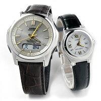 ペアウォッチカシオウェブセプターソーラー電波時計腕時計ペアWVA-M630L-9AJF-1AJF-LWQ-10LJ-1A1JF40,0レザー本革バンド