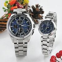 シチズンアテッサ&クロスシーペアウォッチblueAT8040-57L-EC1030-50L158,0腕時計ペア