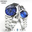 セイコー ペアウォッチ ソーラー ワイアード ワイアードエフ ペアウォッチ ソーラー[blue] SEIKO WIRED&WIREDf AGAD081-AGED081 42,0 [][腕時計 ペア カ