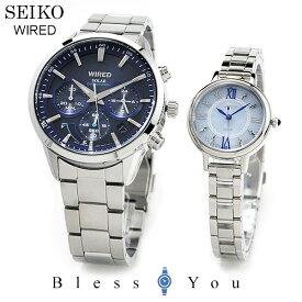 ペアウォッチ セイコー SEIKO WIRED 腕時計 ペアウォッチ ソーラー AGAD094-AGED098 51,0 セイコー ワイアード Blue/blue