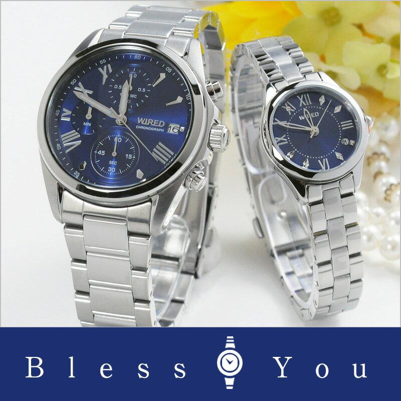 セイコー ワイアード&ワイアードエフ ペアウォッチ blue SEIKO WIRED&WIREDf AGAT405-AGEK423 【あす楽】 32,0 [腕時計 ペア カップル ブランド ウォッチ ペアスタイル]