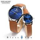 スイスミリタリー ペアウォッチ プリモ(blue) レザーバンド ML420-ML421 30,0 腕時計 ペア カップル ブランド ウォッチ SWISS MILITARY PRIMO *この商品は名入れできません
