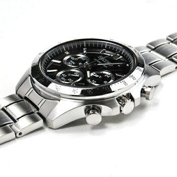 セイコー腕時計メンズセイコーセレクションSBTR013ブラッククロノグラフ30,0