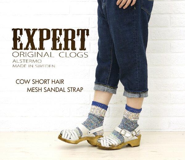 【エキスパート EXPERT】COW SHORT HAIR MESH SANDAL STRAP・NEP1103H-0341102【レディース】【RCP】【シューズ】【A-3】