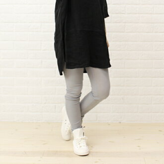 Midi-Umi (ミディウミ) cotton polyurethane leggings-1-76206-1261301