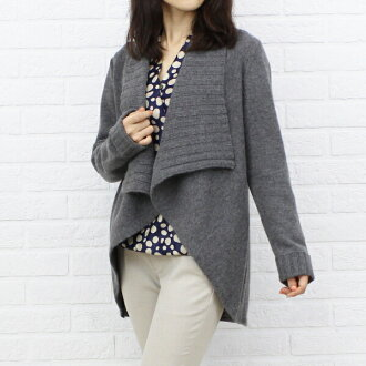 EDI (enricodomani) wool Angora shawl collar knit Cardigan-60360812-3051302