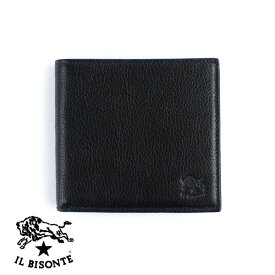 84604a0e1425 【イルビゾンテ IL BISONTE】レザー パスケース付き 二つ折り 財布・5432404440-0061401