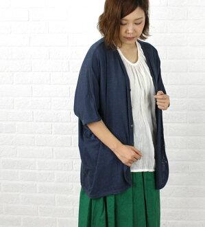 Linen dolman sleeve cardigan .241024-3,261,401