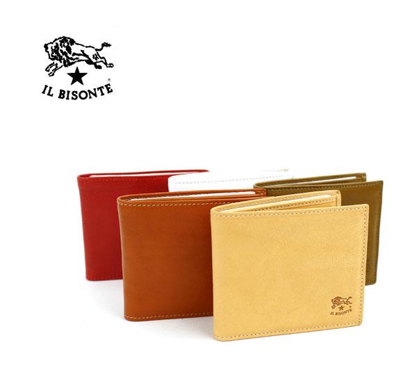 【イルビゾンテ IL BISONTE】レザー 二つ折り 財布・411853-0061801【メンズ】【レディース】【1F】
