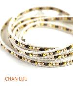 CHANLUU(チャンルー)シルバースタッズレザー多連ラップブレスレット・C134720