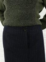 MICHELBEAUDOUIN(ミシェルボードウイン)ウールストライプタイトスカート・MB-B7510