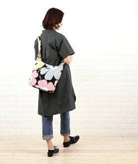 """日本限量版棉帆布 unikko 模式挎包""""日本三叶草 UNIKKO""""和 52159242768 0061601"""