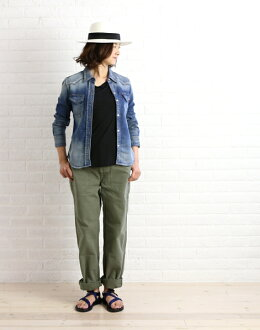 "chimala( チマラ) cotton baggy pants ""UNISEX DUCK BAGGY WORK TROUSERS"", CS16-MP12B-2961302 fs3gm"