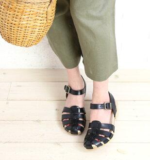 """全部的粒料皮革叔父吊带凉鞋""""MILLY""""、MILLY-2911601"""