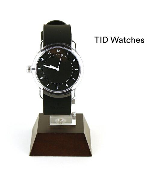 【ティッドウォッチズ TID Watches】腕時計 シリコンベルトセット ブラック/ブラック(38mm) 腕時計 No.3 Collection リストウォッチ・137699-3701702【レディース】【メンズ】【1F-W】【◎】