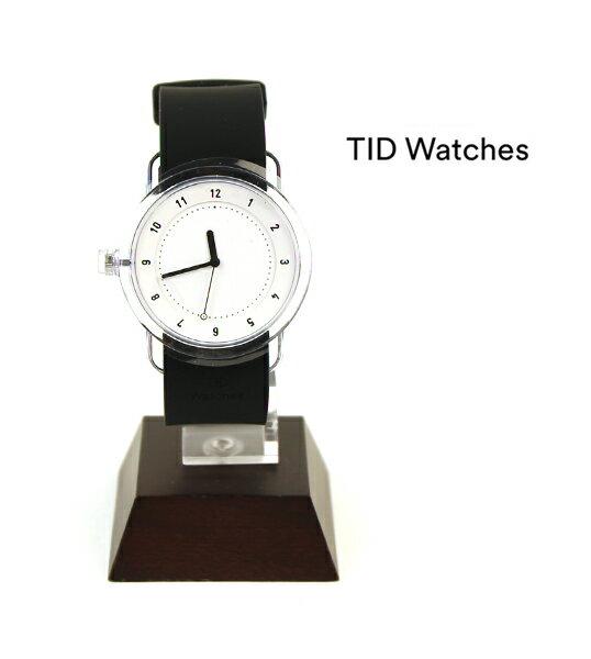 【ティッドウォッチズ TID Watches】腕時計 シリコンベルトセット ホワイト/ブラック(38mm) 腕時計 No.3 Collection リストウォッチ・137700-3701702【レディース】【メンズ】【1F-W】【◎】