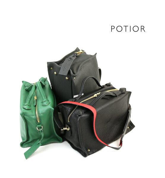 【ポティオール PotioR】ゴートレザー 2WAY ミニ ハンドバッグ ショルダーバッグ・GO-0131-2701702【レディース】【◎】