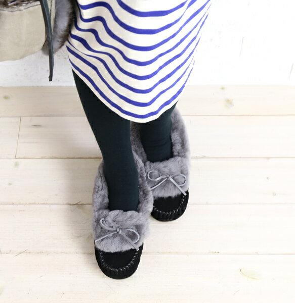 【エミュ EMU】シープスキン ムートン ファー モカシンシューズ Amity Cuff Fur・W11696-1541702【レディース】【◎】