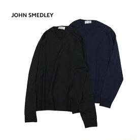 【ジョンスメドレー JOHN SMEDLEY】メリノウール メンズ Vネック 長袖 ニット プルオーバー・GENOA-2851702【メンズ】【last_1】
