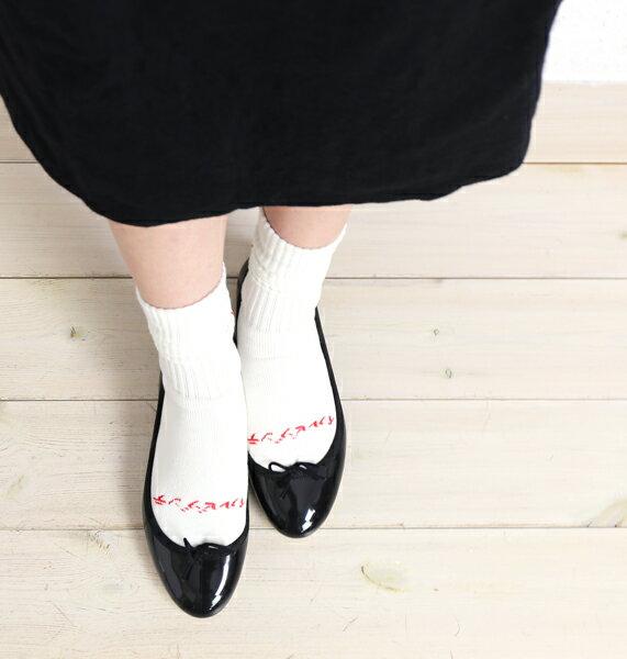 【イルビゾンテ IL BISONTE】コットン混 ロゴ入り スポーツ ソックス 靴下・54172309680-0061702【レディース】【◎】
