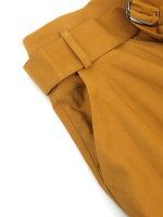 SACRA(サクラ)コットン混ギザリネンラミーベルト付きロングフレアスカート・118117122