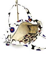 marimekko(マリメッコ)コットンキャンバスミニウニッコ柄横長トートバッグPRINSESSAMINIUNIKKO・52183245914