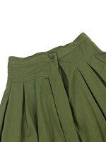 GRANDMAMAMADAUGHTERbyKATO'(グランマ・ママ・ドーター)コットンチノタックロングスカートプリーツスカート・GK001