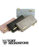 TOFF&LOADSTONE(トフアンドロードストーン)リザード型押しレザー長財布ロングウォレットデリスリザード財布(L字ジップ型)・TLA-360