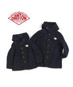 DANTON(ダントン)ウールモッサキッズフード付きジャケットショートコート・JD-8576WOM