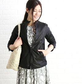 【シシ Sisii】カウレザー シングル レザージャケット ライダースジャケット・907JL-2821902【レディース】【JP】【◎】