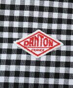 DANTON(ダントン)コットンオックスフォードラウンドカラー丸襟ギンガムチェック&ストライプ長袖プルオーバーシャツ・JD-3564TRD