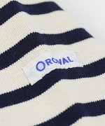 ORCIVAL(オーチバル・オーシバル)コットンロード長袖ボートネックカットソーバスクシャツ・B211