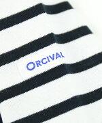 ORCIVAL(オーチバル・オーシバル)コットン天竺ボートネックボーダー7分袖カットソーボートネックTシャツボーダーカットソー・RC-6882