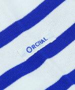 ORCIVAL(オーチバル・オーシバル)コットンラッセルボーダー刺繍ボートネック長袖カットソープルオーバー・6803EMB