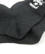 【イルビゾンテILBISONTE】リネン混バッファロー刺繍リブショートソックス靴下・54192304580-0061901【メール便可能商品】[M便2/5]【レディース】【■■】【クーポン対象外】