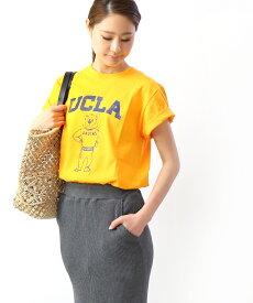 【エントリー1つで29倍】【グッドロックスピード GOOD ROCK SPEED】コットン クルーネック 半袖 プリント Tシャツ カレッジTシャツ ロゴT UCLA・19UCL004W-0241901【メール便可能商品】[M便 5/5]【レディース】