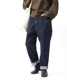 【トラヴァイユマニュアル TRAVAIL MANUEL】コットン イージー セルビッチデニム 5P デニムパンツ・TM5005-3261902【レディース】【■■】【クーポン対象外】