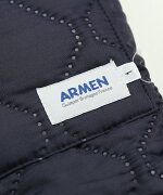ARMEN(アーメン)ヒートキルティング×フリースリバーシブルフード付きロングコートキルティングコート・NAM1753