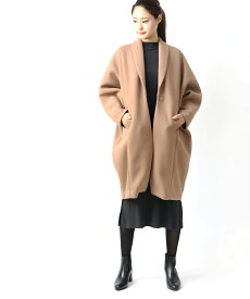 【リムアーク RIM.ARK】ダンボールニット マグネット釦 コート ユースフルコクーンコートUseful cocoon coat ・460CAL30-0600-4201902【レディース】【2F】【last_1】