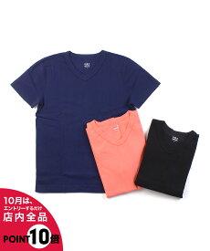 【エントリー1つで29倍】【スリードッツ three dots】コットン 半袖 メンズ VネックTシャツ キース・AA1V-630Y-0441902【メール便可能商品】[M便 5/5]【メンズ】