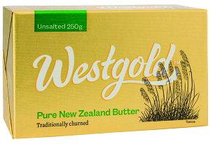 NZ産 グラスフェッドバター ウエストランド無塩バター 250g